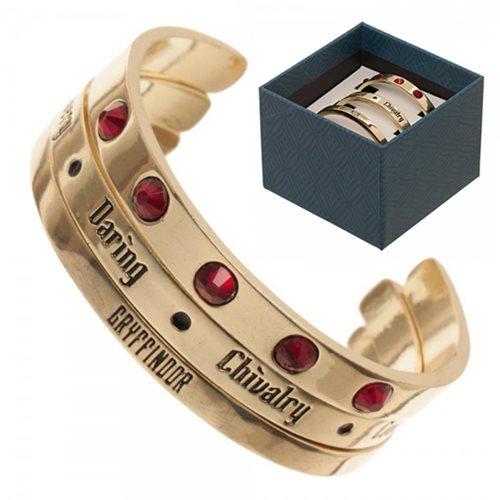 Harry Potter Gryffindor Cuff Bracelet 3-Pack Set