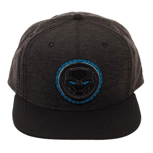 2e3185ca4a5 Black Panther Logo Black Snapback Hat