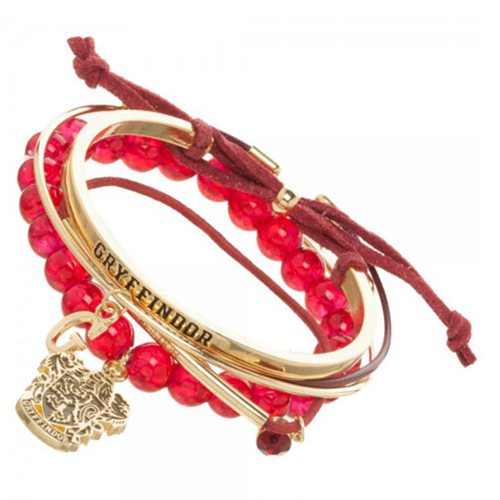 Harry Potter Gryffindor Arm Party Bracelet Set
