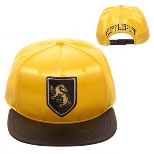 Harry Potter Hufflepuff Satin Snapback Hat