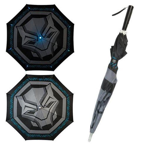 Black Panther Logo LED Umbrella
