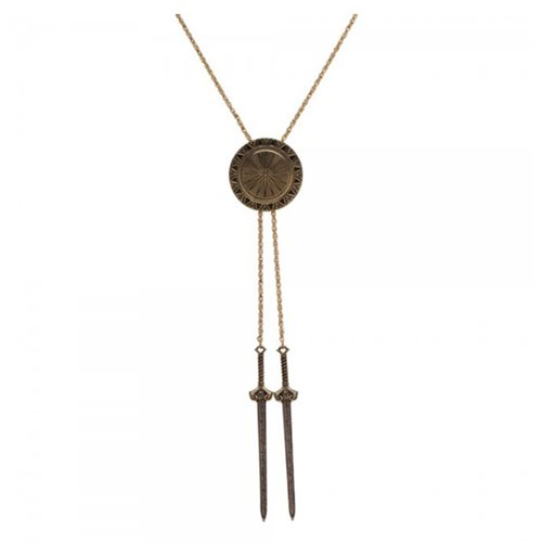 Wonder Woman Shield and Sword Bolo Necklace