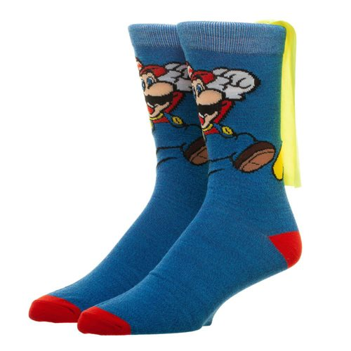 Nintendo Super Mario Brothers Cape Socks