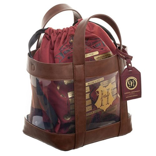 Harry Potter Clear Tote and Cinch Backpack