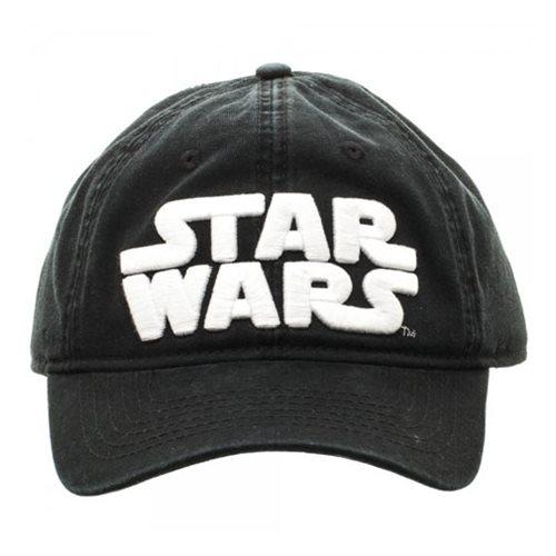 Star Wars Logo Black Adjustable Hat