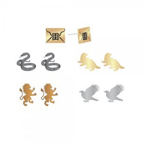 Harry Potter Envelope and House Symbols Earring 5-Pack