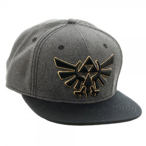 Legend of Zelda Grey-and-Black Snapback Hat
