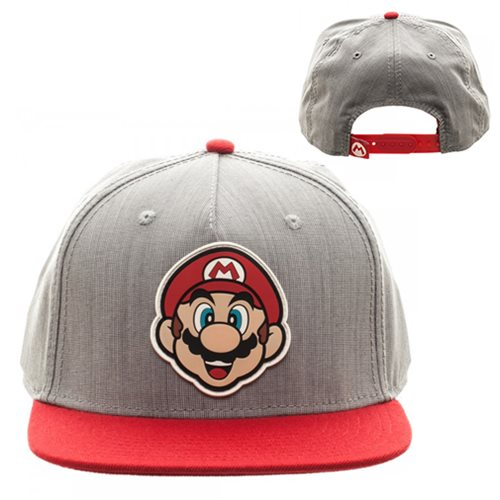 Super_Mario_Bros_Gray_and_Red_Snapback_Hat