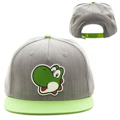 Super_Mario_Bros_Yoshi_Gray_and_Green_Snapback_Hat