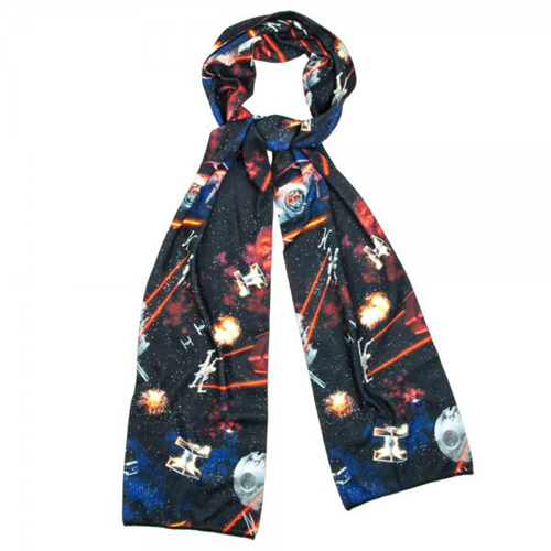 Knitting Pattern For Star Wars Scarf : Star Wars Sublimated Poly Knit Scarf - Bioworld - Star Wars - Scarves at Ente...