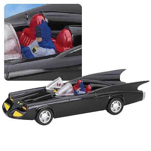 Batman 1960s Die-Cast 1:43 Scale Batmobile 1 with Figure