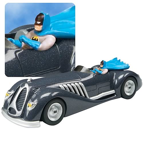 Batman 1940s Die-Cast 1:43 Scale Roadster with Figure