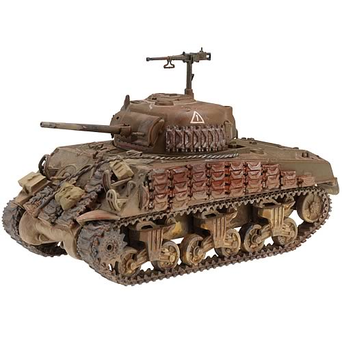 British Sherman III M4A2 Tank with Infantry Set