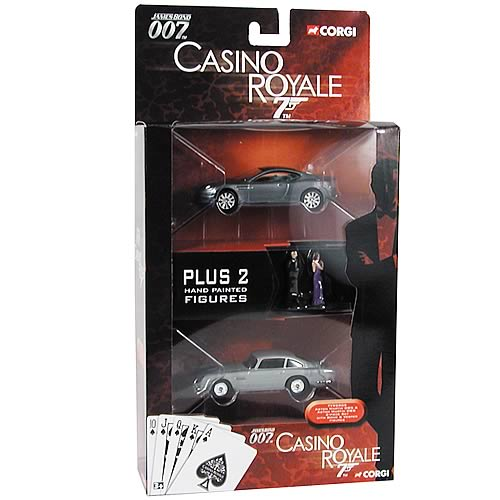 James Bond Casino Royale Aston Martin DB5 & DBS with Figures