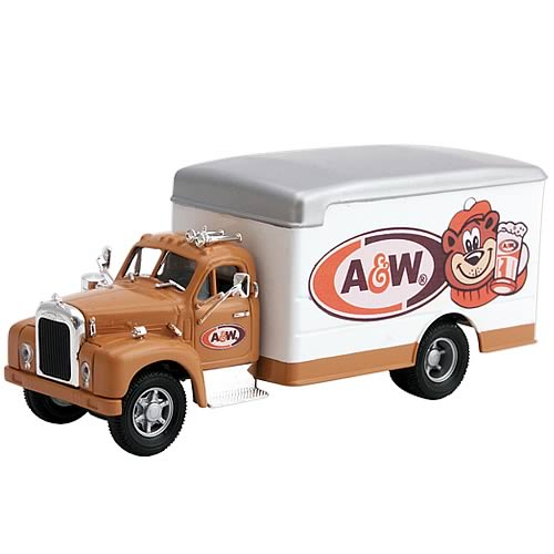 Mack B Box Van A&W Root Beer Die-Cast Truck