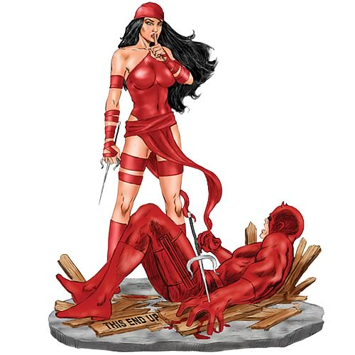 Elektra vs Daredevil 1:12 Scale Metal Statue