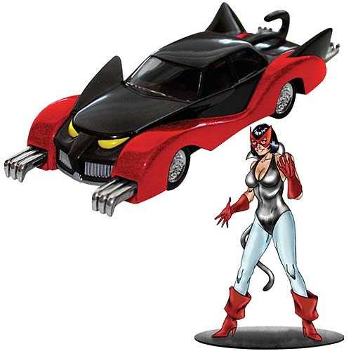 Batman 1960s Catmobile and Catwoman Figure