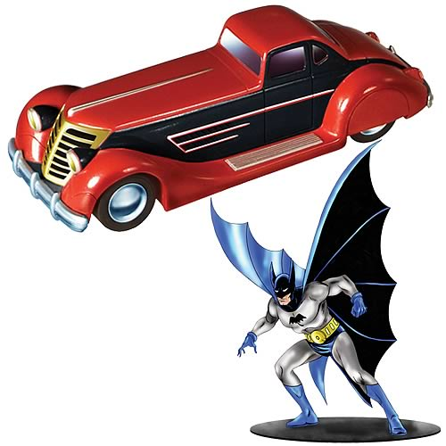 Batman 1930s Batmobile and Batman Figure