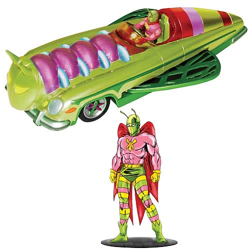Batman 1950s Mothmobile and Killer Moth Figure