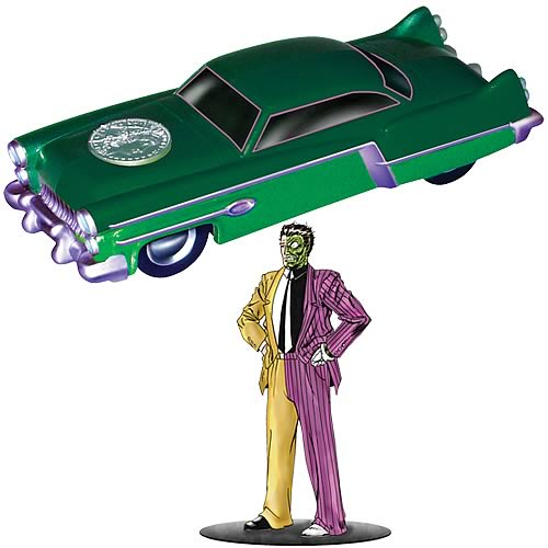 Batman 1950s Two Tone Car and Two-Face Figure
