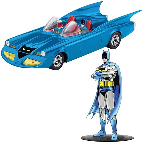 Batman 1960s Batmobile and Batman Figure