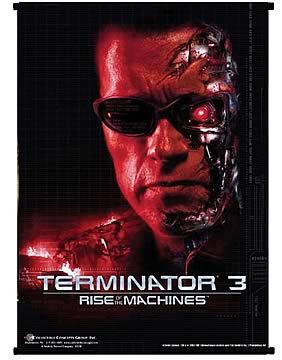 Terminator T-850 Red Face Wall Scroll