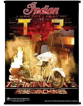 Terminator T-850 with Motorcycle Wall Scroll