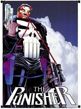 Punisher Sky Blue Wall Scroll