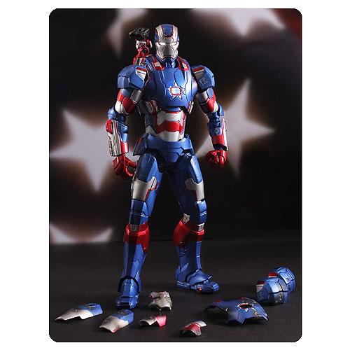 Iron Man 3 Iron Patriot 1:12 Die-Cast Metal Action Figure