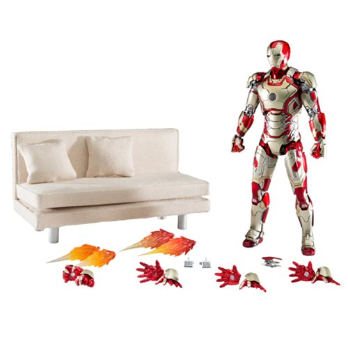 Iron Man Mark 42 Die-Cast Action Figure with Sofa