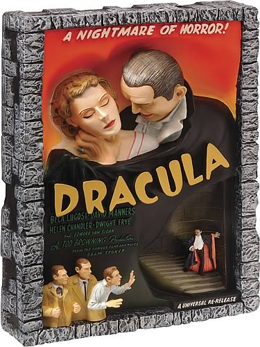 Dracula Style E Movie Poster Sculpture