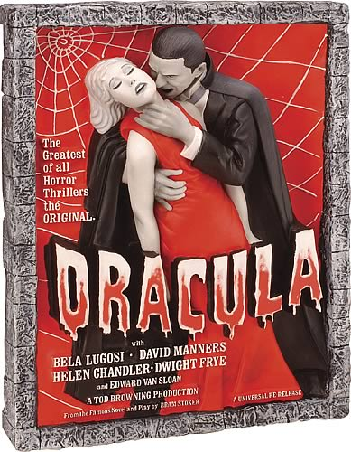 Dracula Style D Movie Poster Sculpture