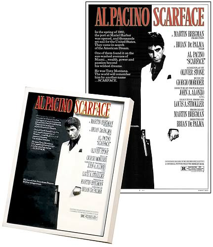 Scarface Movie Poster Sculpture