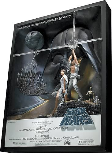 Star Wars A New Hope Style A Movie Poster Sculpture