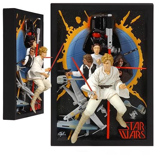 EE Exclusive Star Wars Chaykin Mini Poster Sculpture
