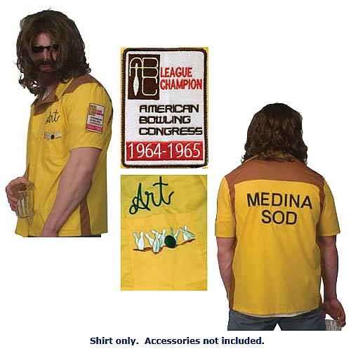 Big Lebowski Dude Art Bowling Shirt
