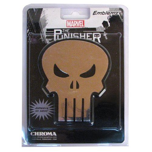 Punisher Skull Chrome Injection-Molded Emblem