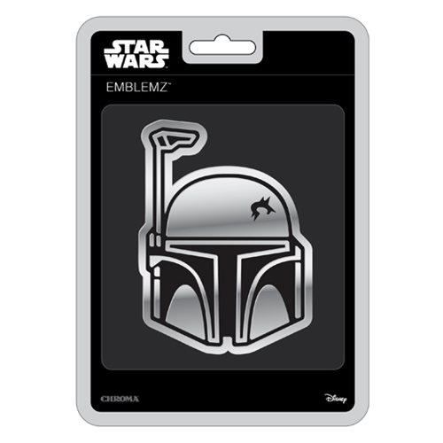 Star Wars Boba Fett Chrome Injection-Molded Emblem