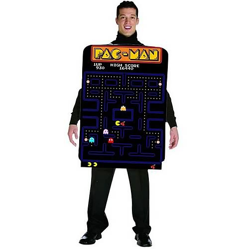 Pac-Man Adult Video Game Screen Poncho Costume