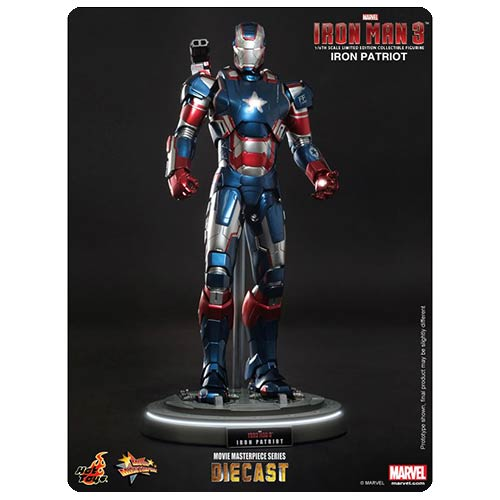 Iron Man 3 Iron Patriot Movie Masterpiece Die-Cast Figure