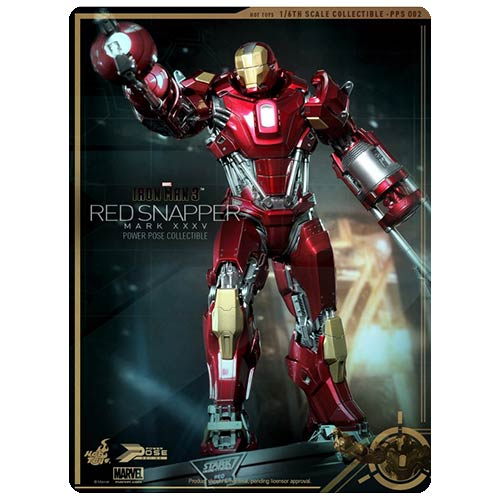Iron Man 3 Mark 35 Red Snapper Power Pose 1:6 Scale Figure