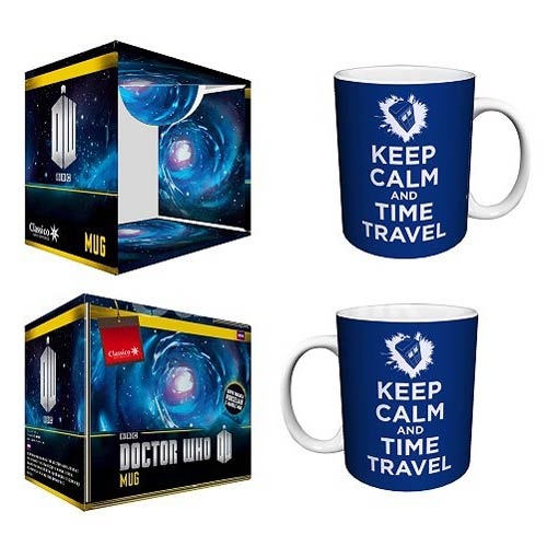 Doctor Who Keep Calm and Time Travel Blue 11 oz. Mug