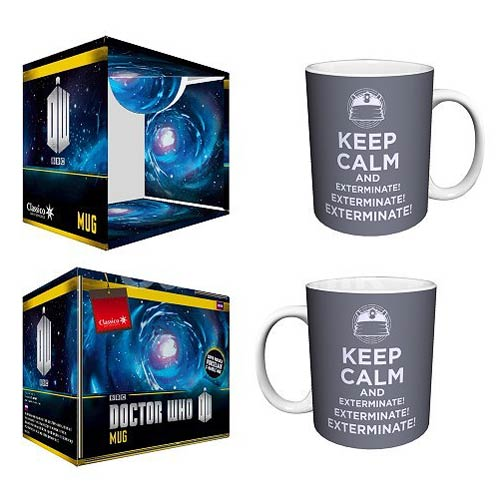 Doctor Who Keep Calm and Exterminate! Silver 11 oz. Mug