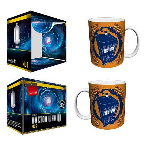 Doctor Who Wibbly Wobbly Timey Wimey Orange 11 oz. Mug