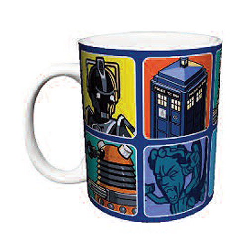 Doctor Who Cartoons Blue 11 oz. Mug