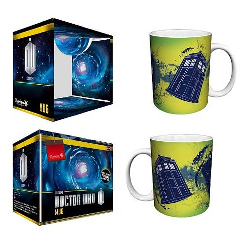 Doctor Who TARDIS Taking Off Yellow 11 oz. Mug