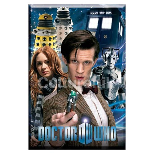 Doctor Who Eleventh Doctor Collage 3-Inch Magnet