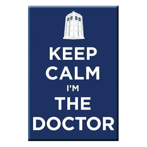 Doctor Who Keep Calm I'm The Doctor 3-Inch Magnet
