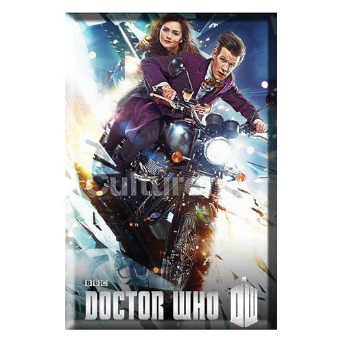 Doctor Who Eleventh Doctor on Bike 3-Inch Magnet