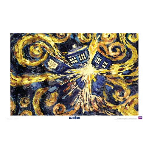 Doctor Who Exploding TARDIS Standard Poster